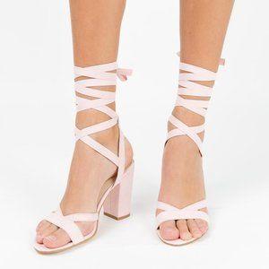 NWOB Billini Ballerina Lace up Block Heels
